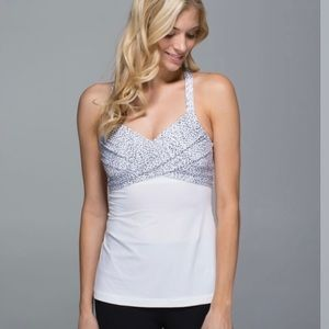 LULULEMON / WRAP IT UP WHITE TANK TOP